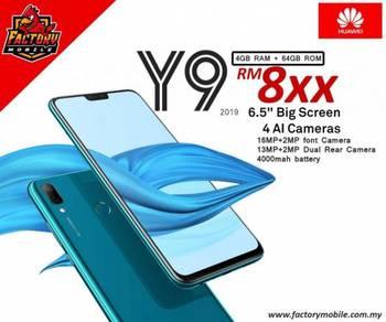 New Huawei Y9 2019 [ 4+64gb ] 4AI camera Myset