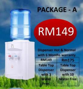 Package A water Dispenser with water Free