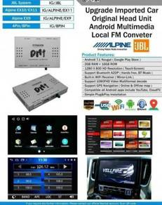 Toyota alphard upgrade fm converter android box 2