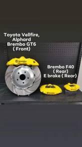 Brembo GT6, F40, E Brake ( Vellfire Alphard )