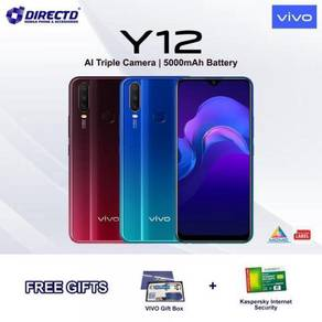 VIVO Y12 (5000 BAT | 3/64GB | 3 KAMERA BLKG)MYset