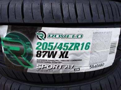 205/45/16 Rovelo Sport A1 Tyre 2019 Tayar