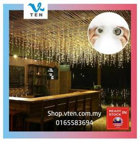 4Meter LED Curtain Icicle String Light Hotel Decor