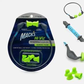 Mack's Shooters Hi Viz* Banded Foam Earplugs