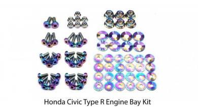 Civic FK8 Type R Dress Up Bolt Titanium Screw Nut