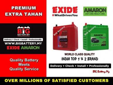 EXIDE AMARON Car Battery ULTIMATE Bateri IMPORTED
