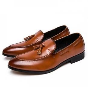 Men leather Business Slip-on Tassel Formal 4