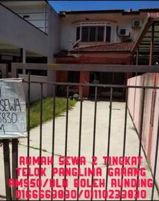 Rumah untuk disewa telok panglima garang sebelah Klang Shah Alam
