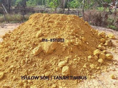 Tanah hitam topsoil pasir batu tanah timbus kuning