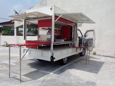 Mini Food Truck c/w Stainless Steel Cabinet
