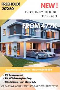 FREEHOLD! 0% Downpayment Luxury & Affordable Garden Landed in Rawang!