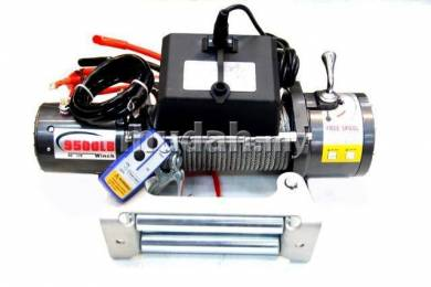Dd 9500lbs 12v volt electric winch wireless remote