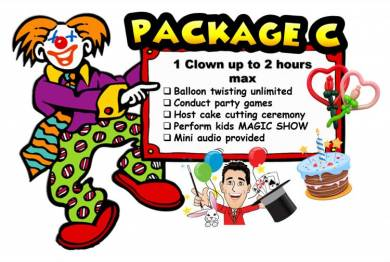 Clown badut magician entertainer