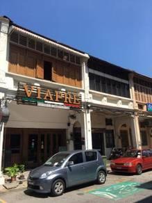 Double storey heritage shophouse penang street
