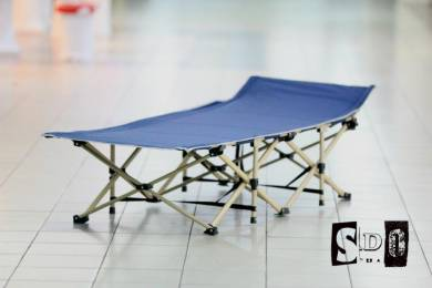 Hospitality Outdoor Camping Folding Bed Blue