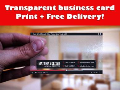 Transparent business card printing + free delivery