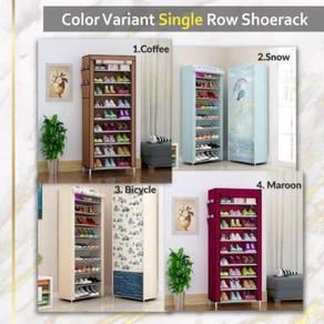 Single row shoe rack pasang sendiri