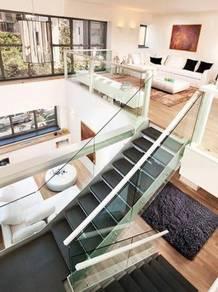 ( Full Loan x 3rd House ) KL Mini Duplex next to MRT , Semi Furnished