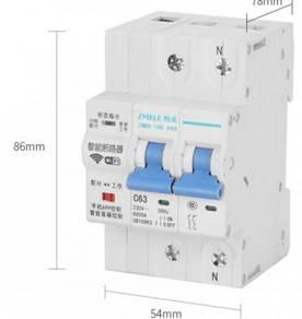 WIFI Control Smart 2P 63A MCB Circuit Breaker