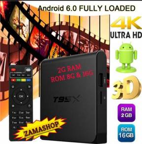 Ram 2g/16g t95x tv box Android stable