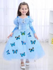 Costume Cosplay Cinderella Dress+ FREE Butterfly