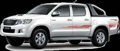 Available 10 units Toyota Hilux 2.5 (A) for Hire