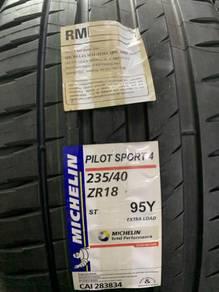 Tayar baru 235 40 18 michelin pilot sport 4 tyre