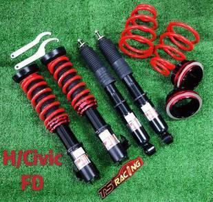 TS racing Adjustable Absorber Honda Civic FB