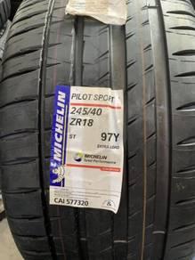 Tayar baru 245 40 18 michelin pilot sport 4 tyres