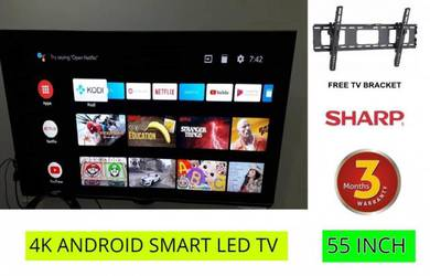 Sharp 55 Inch 4K Android LED TV Smart TV UHD