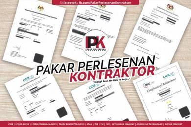 Daftar Kontraktor CIDB, SPKK, MOF, SDN BHD, SPAN