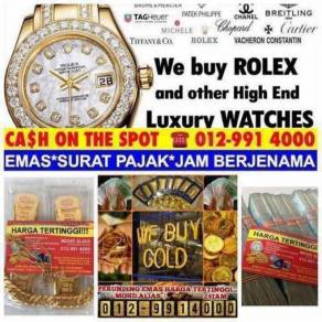 We buy in luxury watches like Rolex Hublot AP