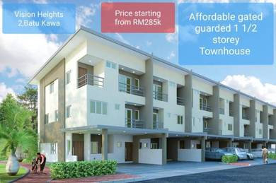 New Launch Affordable 1.5 sty Townhouse ,BATU KAWA [0% Down-payment]