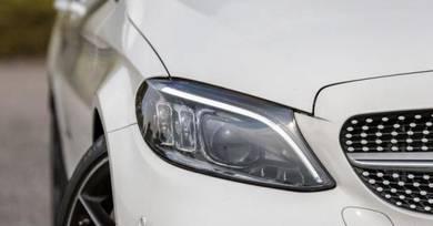Mercedes W205 C300 original headlamp lampu depan