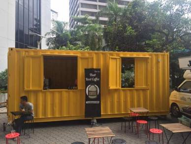 Food Kiosk Container / Gerai Container For Sale