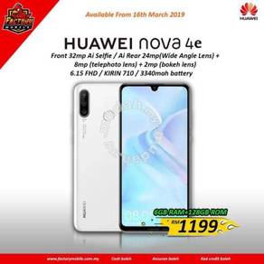 New Huawei nova 4e [ 6+128gb ] M'sia set
