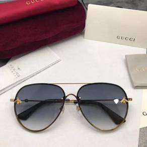 New Gucci GG2201 Black Gold Sunglasses