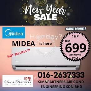 new aircond air cond midea 1hp