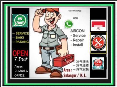 Servis Baiki Pasang Aircon Repair Service Aircond