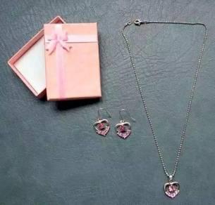 Ladies woman necklace earring set jewellery