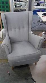Yorkshire Series Fabric Wing Chair With Footstool