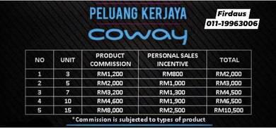Agen Coway (Buat Sales Online) - Kuala Terengganu