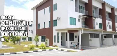 New Ready Affordable 1.5 sty Townhouse ,BATU KAWA [0% Down-payment]