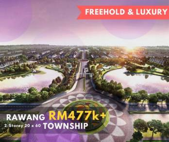 Hot! FREEHOLD! 0% Downpayment! Garden Landed in Rawang!