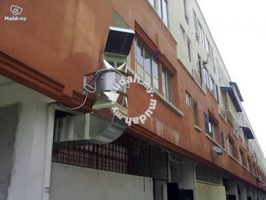 Restaurant kitchen cooking ventilation system