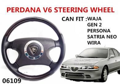 PERDANA V6 Steering Wheel FOR Waja Gen2 Wira