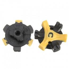Golf Shoe Spikes Cleats (Q-Lok) Yellow - 14 Pcs