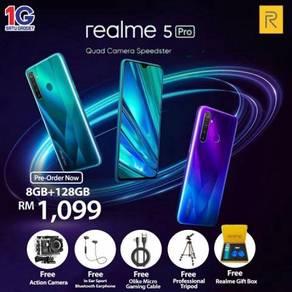 [ 7 FREE GIFT ] Realme 5 Pro ( 8GB+128GB ) MY Set