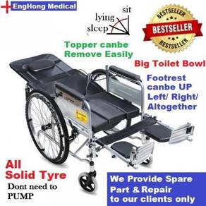 FULLY Reclining Wheelchair with Toilet Bowl