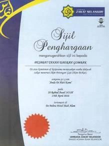 Percetakan colour sijil penyertaan penghargaan